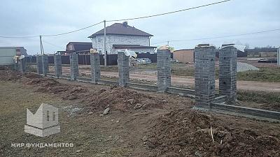 Строительство свайно ленточного фундамента руб в Красногорске