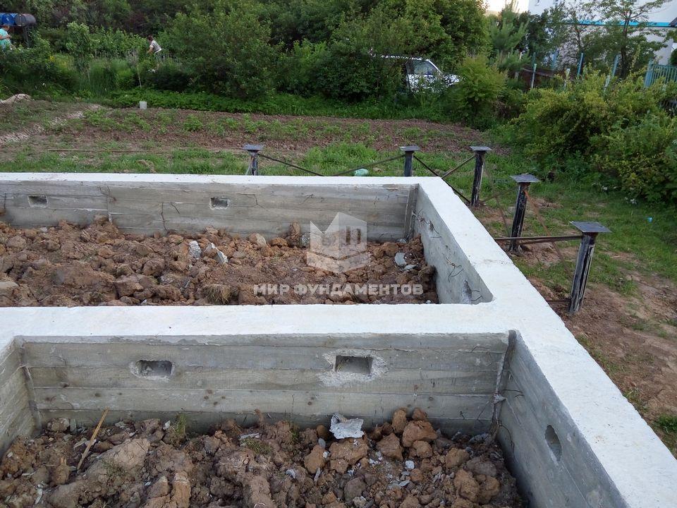фундамент для бани 4х6