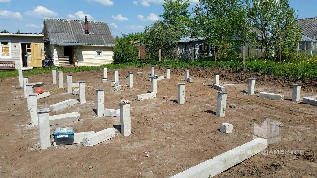 свайный бетонный фундамент